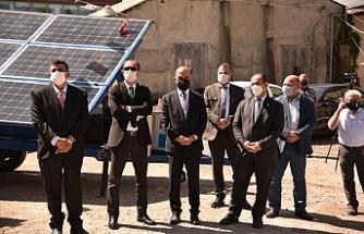 Türkiye'den hibe edilen yangın takip kameraları ve güneş panelleri teslim edildi