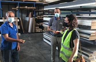 Çalışma Dairesi, sanayi bölgelerindeki işyerlerine kişisel koruyucu ekipman dağıttı
