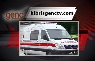 Gazimağusa'daki kazada bisiklet sürücüsü yaralandı