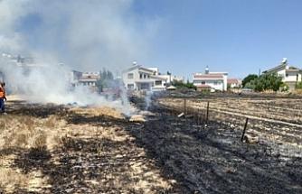 Kermiya'da arazi yangını