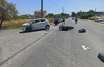 Lapta'da kaza...1 kişi yaralandı