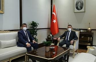 Bakan Üstel, Ankara'da Fuat Oktay tarafından kabul edildi