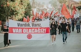 CTP,  ilk eylemini dün Lefke'de gerçekleştirdi