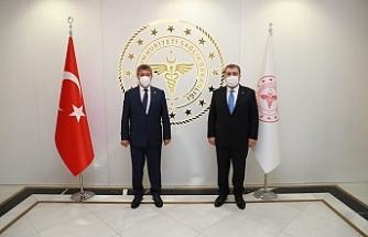 Üstel, Ankara'da Bakan Koca ile görüştü