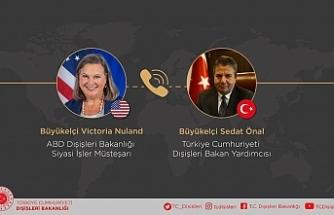 Dışişleri Bakan Yardımcısı, Türkiye'nin görüşlerini Nuland'a aktardı