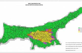 2020-2021 Üretim Yılı Kuraklık Haritası yayınlandı