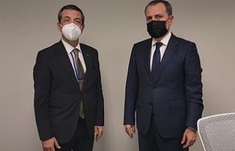 Azerbaycan Dışişleri Bakanı ile görüştü