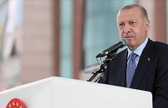 """Erdoğan: """"Aldığımız tedbirlerle dünyanın en yüksek büyüme rakamlarına ulaştık"""""""