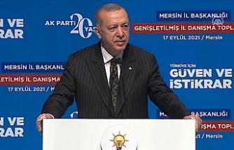 """Erdoğan: """"Bizim hizmet anlayışımızla partizanlık, ötekileştirmek yoktur"""""""