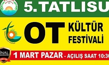 Tatlısu Ot Kültür Festivali 1 Mart'ta başlıyor