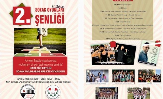 """""""2. SOKAK OYUNLARI ŞENLİĞİ"""" 2 HAZİRAN CUMARTESİ GÜNÜ YAPILIYOR"""