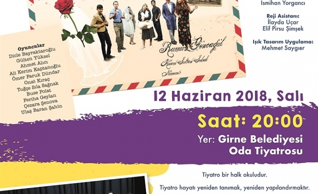 """GİBETSU GENÇLİK KULÜBÜ, 12 HAZİRAN'DA """"RUMUZ GONCAGÜL"""" OYUNUYLA SAHNEDE"""