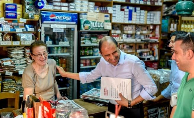 HP, LEFKOŞA TAŞKINKÖY'DE ESNAFI ZİYARET ETTİ