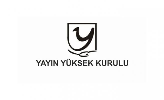 YYK 4 TV KANALINA UYARI 1 TV KANALINA PARA CEZASI VERDİ