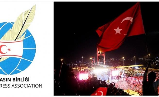 DIŞ BASIN BİRLİĞİ'NDEN 15 TEMMUZ DEMOKRASİ VE MİLLİ BİRLİK GÜNÜ MESAJI...