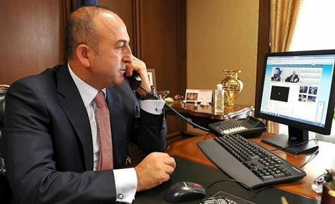 TC DIŞİŞLERİ BAKANI ÇAVUŞOĞLU ABD'Lİ MEVKİDAŞI İLE TELEFONDA GÖRÜŞTÜ