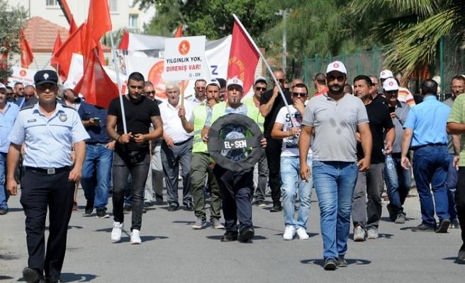 EL-SEN ZAMLARI VE KIB-TEK'E YATIRIM YAPILMAMASINI PROTESTO ETMEK İÇİN GREVDE…