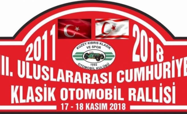 8. Uluslararası Cumhuriyet Klasik Otomobil Rallisi Pazar günü yapılıyor