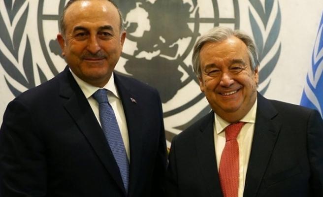 Çavuşoğlu ve Guterres Kaşıkçı cinayetini görüştü