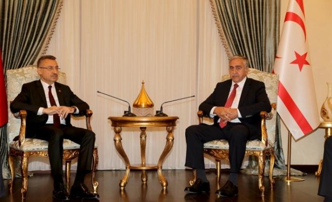 Cumhurbaşkanı Akıncı, Türkiye Cumhurbaşkanı Yardımcısı Oktay'ı kabul etti