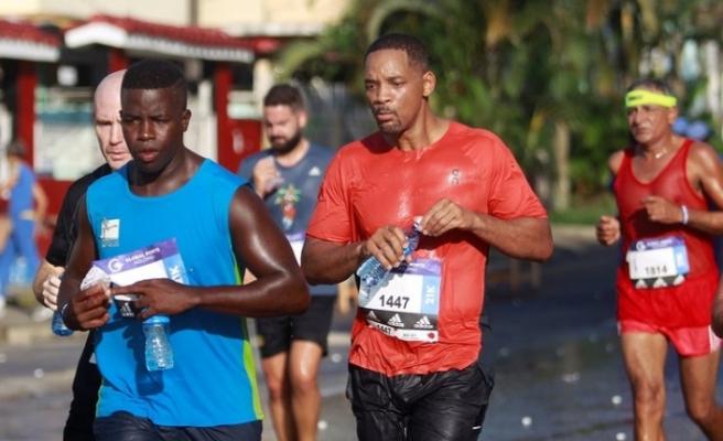 Hollywood yıldızı Will Smith, Küba'da maratona katıldı