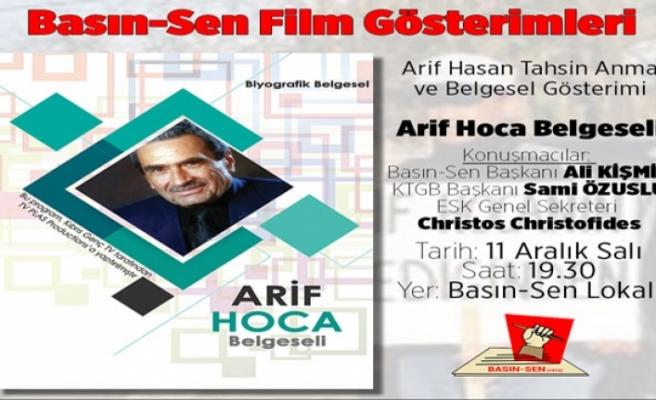 """""""Arif Hoca"""" belgeseli bu akşam gösterilecek"""