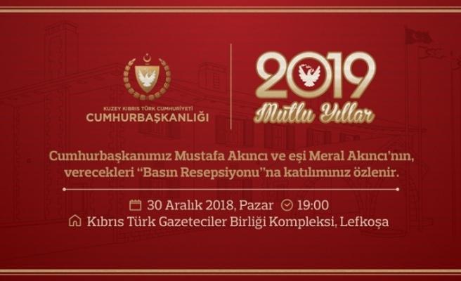 Cumhurbaşkanı Mustafa Akıncı  basın resepsiyonu verecek