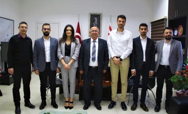 Özyiğit, Kıbrıs Türk Gençlik Birliği-İngiltere heyetini kabul etti