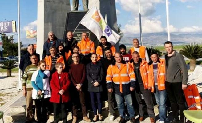 Tabibler Birliği ve Tıp İş'den eylemcilere ziyaret