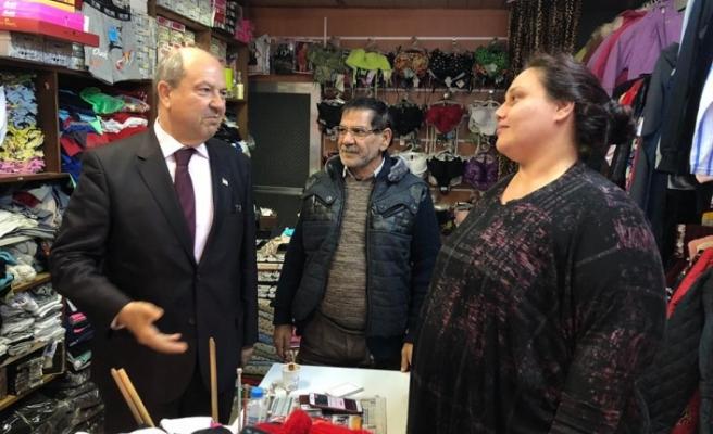 Tatar'dan esnafa yeni yıl ziyareti