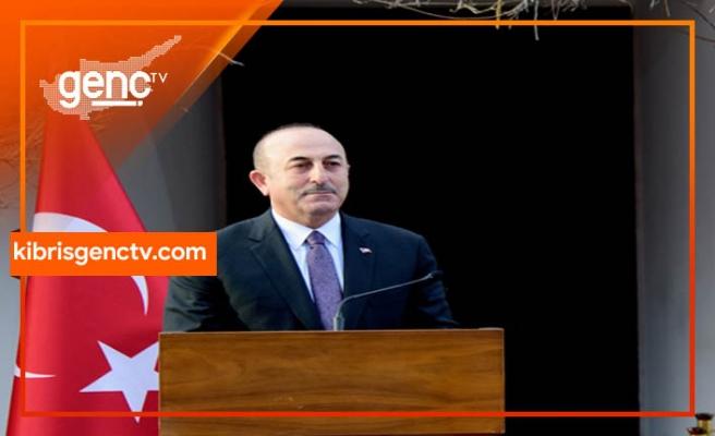 """Çavuşoğlu: """"Biz siyasi eşit, iki kesimli adil kalıcı bir çözüm istiyoruz"""""""