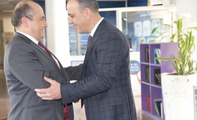 Büyükelçi Başçeri'den, LTB Başkanı Harmancı'ya ziyaret