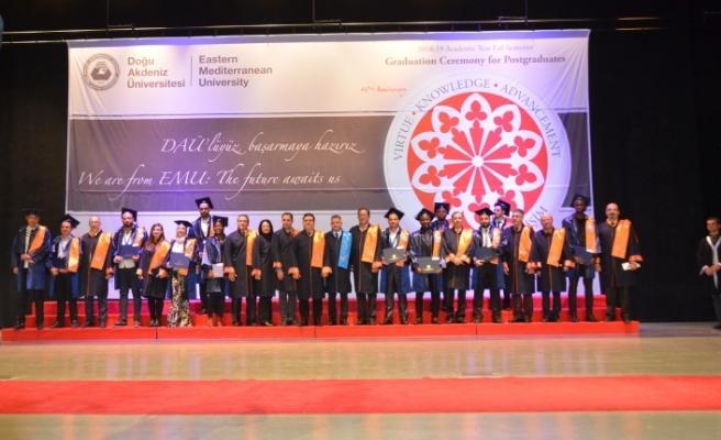 DAÜ'de Lisansüstü Mezuniyet Töreni