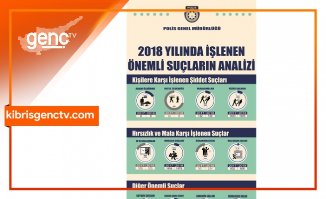 Polis Genel Müdürlüğü 2018'de İşlenen Önemli Suçların Analizini Yayımladı