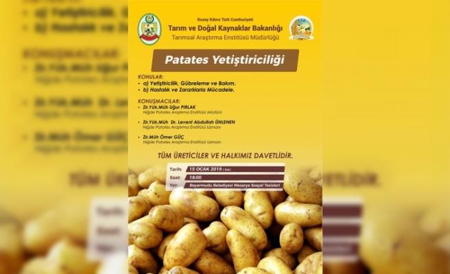 Türkiye'de geliştirilen patateş çeşidinin deneme ekimi yapılacak
