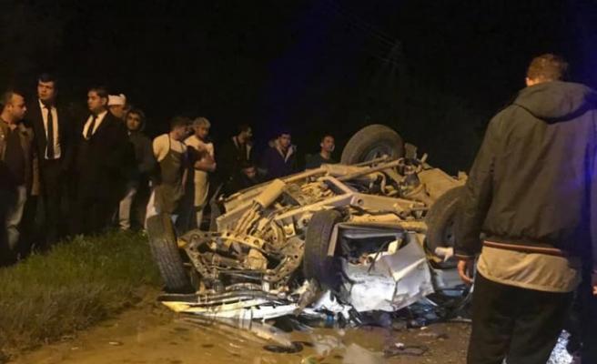 1 kişi hayatnı kaybetti...Girne-Değirmenlik yolunda kaza