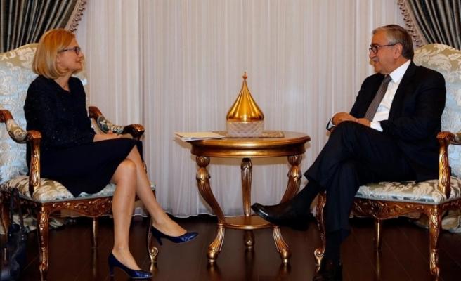 Akıncı, Polonya Büyükelçisini kabul etti