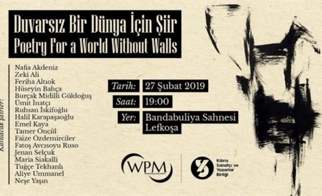 """""""Duvarsız Bir Dünya İçin"""" başlıklı bir etkinlik düzenleniyor"""