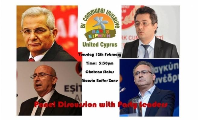 """""""Federasyon yoluyla yeniden birleşme – Kıbrıs'ta barış içinde bir gelecek inşa etmek"""" konulu panel"""