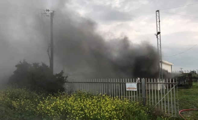 Geçitkale Elektrik Santrali'ne yıldırım düştü