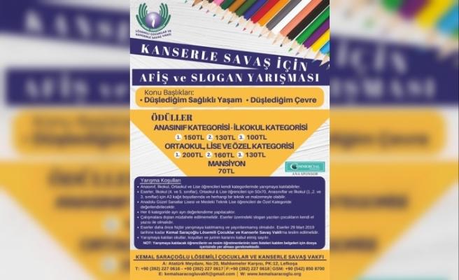 """""""Kanserle Savaş İçin Afiş Ve Slogan Yarışması"""" için son başvuru tarihi 29 Mart"""