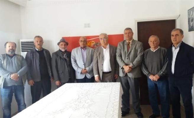 Niyazi Kızılyürek seçim çalışmaları kapsamında  BKP'yi ziyaret etti