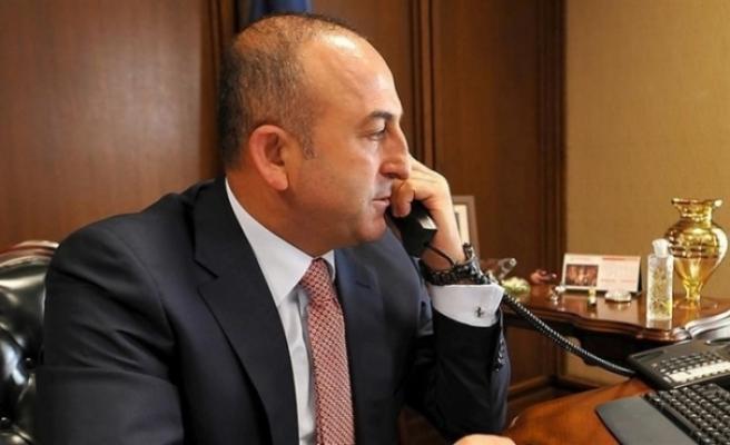 TC Dışişleri Bakanı Mevlüt Çavuşoğlu, Maliye Bakanı Serdar Denktaş'a taziyelerini iletti