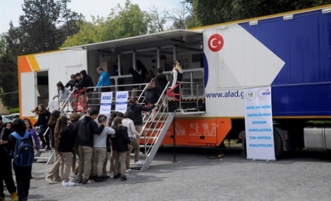 AFAD'ın Deprem Simülasyon Tırı KKTC'de