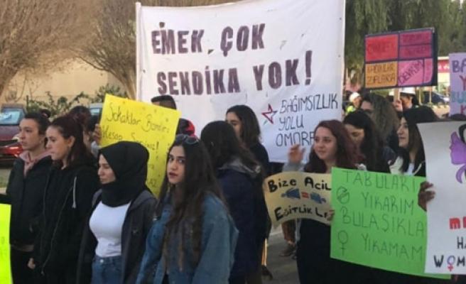 Bağımsızlık Yolu Omorfo Birimi de Güzelyurt'ta yürüyüş düzenledi