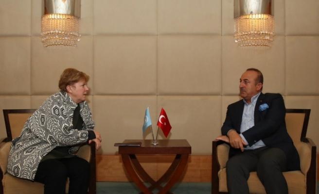 Çavuşoğlu, Lute ile görüştü, siyasi eşitlik vurgusu yaptı