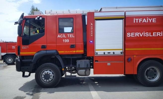 Girne'de ev yangını