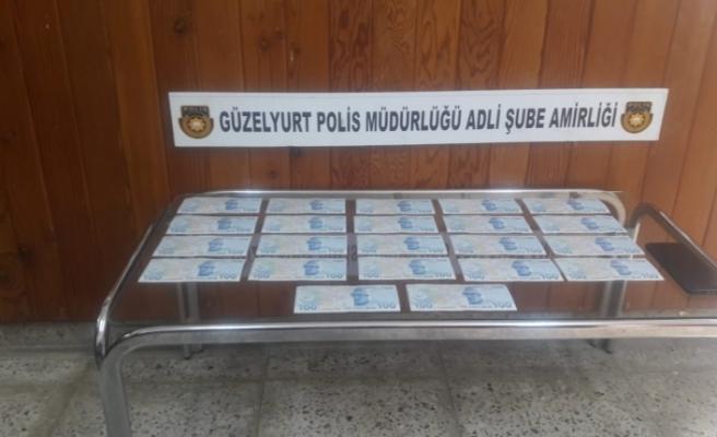 Güzelyurt'ta sahte 100'lük banknot