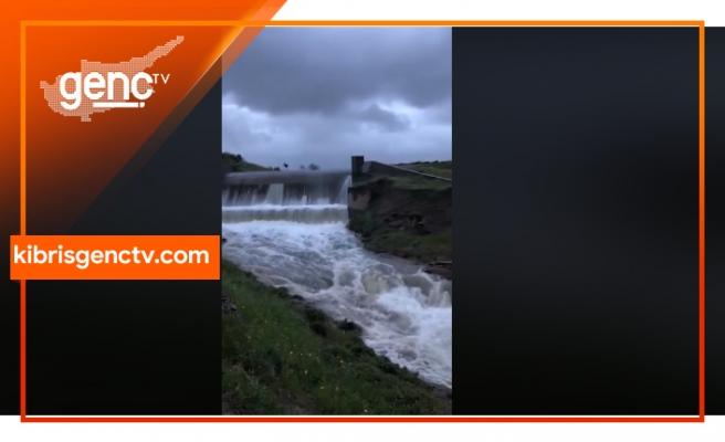 Kanlıköy ve Gönyeli barajları taştı