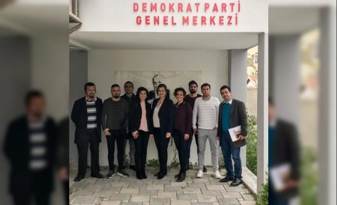 KTOEÖS'den  Demokrat Parti'ye ziyaret